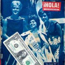 Coleccionismo de Revista Hola: REVISTA HOLA 1962 / MISS EUROPA, EUROPE, MAY BRITT, CENDRINE ANGEL. Lote 38010693