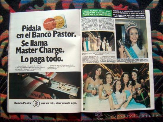 Coleccionismo de Revista Hola: Revista HOLA / MISS MUNDO, WORLD, MISS INTERNACIONAL, FARRAH FAWCETT, LILLI CARATI, SHAUN CASSIDY - Foto 2 - 227488905