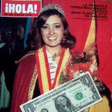 Coleccionismo de Revista Hola: HOLA / MISS EUROPA EUROPE 1976, JACQUELINE BISSET, SYLVIE VARTAN, JACQUELINE KENNDY, JOHNNY HALLYDAY. Lote 38284535