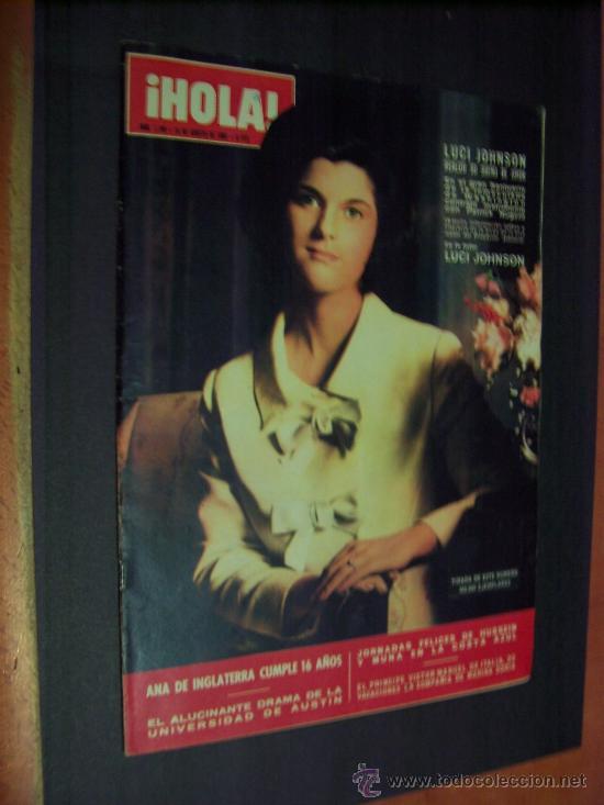 ¡ HOLA ! Nº 1146 - 13 AGOSTO 1966 - 8 PTS. (Coleccionismo - Revistas y Periódicos Modernos (a partir de 1.940) - Revista Hola)