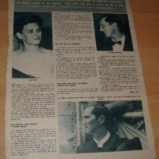 Coleccionismo de Revista Hola: LUCIA BOSE LUIS MIGUEL DOMINGUIN ARTICULOS RECORTES REVISTA HOLA 23 ENERO 1965. Lote 38586662