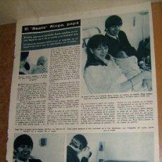 Coleccionismo de Revista Hola: BEATLES BEATLE RINGO ARTICULO RECORTE REVISTA HOLA 25 SEPTIEMBRE 1965. Lote 38622649
