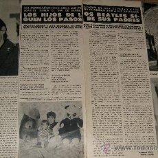 Coleccionismo de Revista Hola: LOS BEATLES HIJOS ARTICULO RECORTE REVISTA HOLA 1 MARZO 1980. Lote 38622772