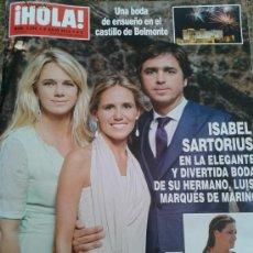 Coleccionismo de Revista Hola: REVISTA HOLA Nº 3596 - 3 JULIO 2013 -- ISABEL SARTORIUS --. Lote 38751572