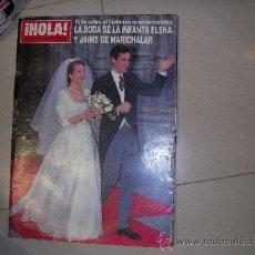 Coleccionismo de Revista Hola: HOLA AÑO 1995 BODA REAL INFANTA ELENA JAIME DE MARICHALAR. Lote 38974554