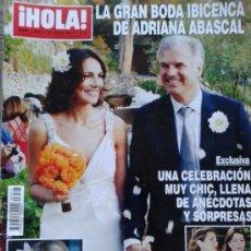 Coleccionismo de Revista Hola: REVISTA HOLA Nº 3597 - 10 JULIO 2013 -- LA GRAN BODA IBICENCA DE ADRIANA ABASCAL --. Lote 38977154