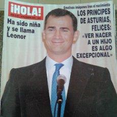 Coleccionismo de Revista Hola: REVISTA HOLA Nº 3197 - 10 NOV. 2005 - LOS PRINCIPES DE ASTURIAS,FELICES:HA SIDO NIÑA. Lote 39024454