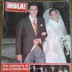 Coleccionismo de Revista Hola: REVISTA HOLA Nº 3149 - 9 DICIEMBRE 2004 - BODA DE FERNANDO GOMEZ-ACEBO Y MONICA MARTIN LUQUE. Lote 39036874