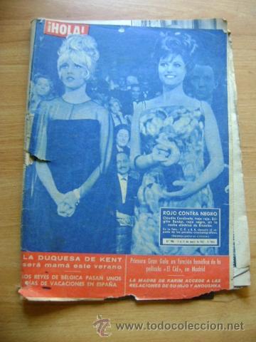 REVISTA HOLA 906, ENERO 1962: CLAUDIA CARDINALE, BRIGITTE BARDOT, MARLON BRANDO, PELÍCULA EL CID (Coleccionismo - Revistas y Periódicos Modernos (a partir de 1.940) - Revista Hola)