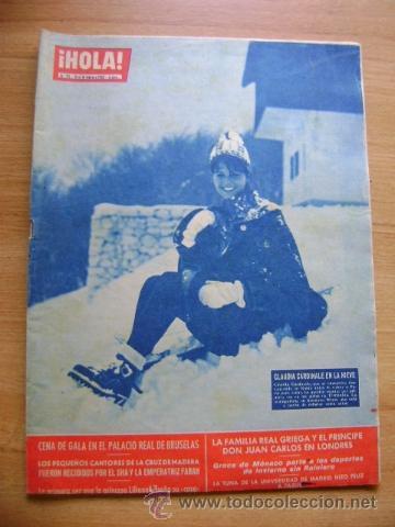 REVISTA HOLA 911, FEBRERO 1962: CLAUDIA CARDINALE, FABIOLA, YVES SAINT-LAURENT, BRIGITTE BARDOT (Coleccionismo - Revistas y Periódicos Modernos (a partir de 1.940) - Revista Hola)