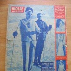 Coleccionismo de Revista Hola: REVISTA HOLA 914, MARZO 1962: ESPECIAL MODA PRIMAVERA-VERANO 1962, FABIOLA, MARTÍNEZ-BORDIU. Lote 39393682