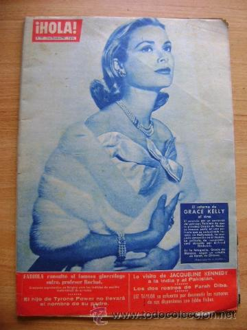 REVISTA HOLA 917, MARZO 1962: GRACE KELLY, JACQUELINE KENNEDY (Coleccionismo - Revistas y Periódicos Modernos (a partir de 1.940) - Revista Hola)