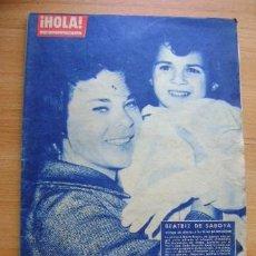 Coleccionismo de Revista Hola: REVISTA HOLA 919, ABRIL 1962: BEATRIZ DE SABOYA, JACQUELINE KENNEDY, CARLOS LARRAÑAGA Mª LUISA MERLO. Lote 39393755