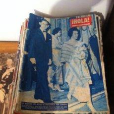 Coleccionismo de Revista Hola: 49 REVISTAS HOLA. Lote 40346676