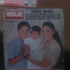 Coleccionismo de Revista Hola: REVISTA HOLA PORTADA ISABEL PANTOJA PAQUIRRIN. Lote 40831661