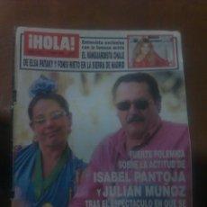 Coleccionismo de Revista Hola: REVISTA HOLA PORTADA ISABEL PANTOJA REPOTAGE ELSA PETAKY EVA GONZALEZ INES SATRE. Lote 40831726