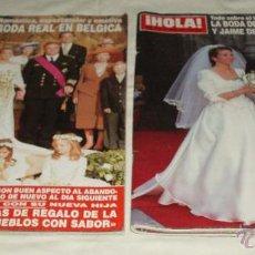Coleccionismo de Revista Hola: DOS REVISTAS HOLA DOS BODAS MUY INTERESANTES1995-2003. Lote 40866864