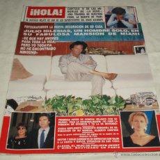 Coleccionismo de Revista Hola: REVISTA HOLA MARZO 1990 (LA SOLEDAD DE JULIO IGLESIAS). Lote 40877842