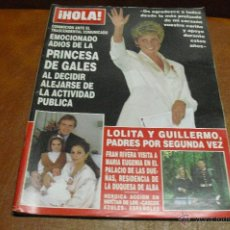 Coleccionismo de Revista Hola: REV.12/1993 HOLA. EL ADIOS DE DIANA -GRAN RPTJE. ANTHONY DELON,N. KIDMAN,A. QUINN,R.JURADO, CARMINA. Lote 41673178