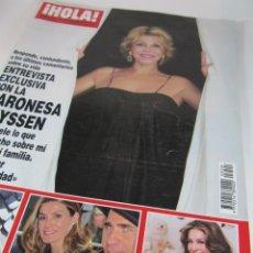 Coleccionismo de Revista Hola: REVISTA HOLA BARONESA THYSSEN, TITA CERVERA, LETIZIA, THALIA, HELEN LINDES, PALOMA CUEVAS. (2011). Lote 41677150