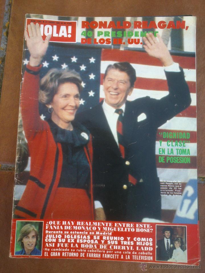 REVISTAS HOLA .RONALD REAGAN 40 PRESIDENTE DE LOS EE.UU (Coleccionismo - Revistas y Periódicos Modernos (a partir de 1.940) - Revista Hola)
