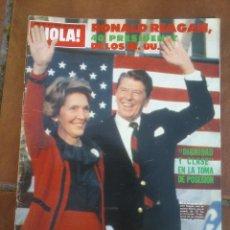 Coleccionismo de Revista Hola: REVISTAS HOLA .RONALD REAGAN 40 PRESIDENTE DE LOS EE.UU. Lote 42255576