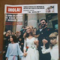 Coleccionismo de Revista Hola: REVISTAS HOLA .LA BODA DE RINGO STARR. Lote 42255628
