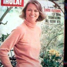 Coleccionismo de Revista Hola: LOUISE FLETCHER / OSCARS 1976, LOLA FLORES Y FAMILIA, BARBARA CARRERA, NATHALIE DELON, PAJARES. Lote 43132426