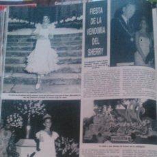 Collezionismo di Rivista Hola: RECORTES FIESTA DE LA VENDIMIA SHERRY JEREZ 1985. Lote 43227198