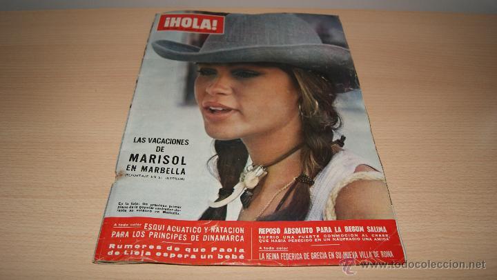 REVISTA HOLA NÚMERO 1.408 - 21 DE AGOSTO DE 1971 - LAS VACACIONES DE MARISOL EN MARBELLA (Coleccionismo - Revistas y Periódicos Modernos (a partir de 1.940) - Revista Hola)