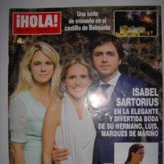 Coleccionismo de Revista Hola: . HOLA NUM. 3596 3 DE JULIO 2013 UNA BODA DE ENSUEÑO EN EL CASTILLO DE BELMONTE 33 X 24CM. Lote 43289466