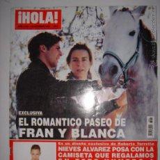 Coleccionismo de Revista Hola: . HOLA NUM, 3203 22 DE DICIEMBRE DE 2005 EL ROMANTICO PASEO DE FRAN Y BLANCA 24 X 33 CM. Lote 43289926