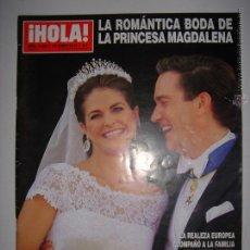 Coleccionismo de Revista Hola: . HOLA NUM.3594 19 JUNIO 2013 LA ROMANTICA BODA DE LA PRINCESA MAGDALENA 24 X 33 CM. Lote 43292812