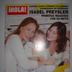 Coleccionismo de Revista Hola: . HOLA NUM. 3103 22 DE ENERO 2004 ISABEL PREYSLER 1AS IMAGENES CON SU NIETO 24 X 33 CM. Lote 43293711