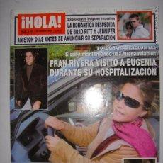 Coleccionismo de Revista Hola: .HOLA Nº 3155 20 DE ENERO DE 2005 FRAN RIVERA VISITO A EUGENIA DURANTE SU HOSPITALIZACION 24 X 33CM. Lote 43294647