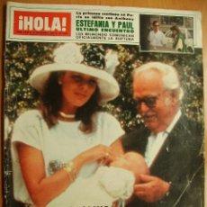 Coleccionismo de Revista Hola: ¡HOLA! Nº2090-15/9/84-PRINCIPE FELIPE-MICHAEL JACKSON-ESTEFANIA DE MONACO-LOS REYES DE ESPAÑA-CAMILO. Lote 43418481