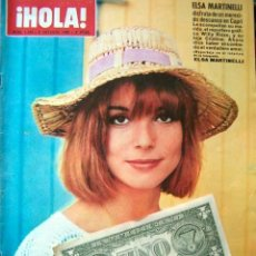 Coleccionismo de Revista Hola: REVISTA HOLA / ELSA MARTINELLI, JOHNNY HALLYDAY, SYLVIE VARTAN, IRA FURSTENBERG, BARBARA PARKINS,. Lote 43454075
