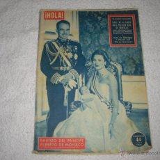 Coleccionismo de Revista Hola: HOLA 1962 BAUTIZO DEL PRINCIPE ALBERTO DE MONACO . Lote 43507516