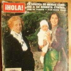 Coleccionismo de Revista Hola: ¡HOLA! Nº2150-9/11/85-FRANCISCO RIVERA-ISABEL PANTOJA-LA SEÑORA DE MEIRAS Y CARMEN MARTINEZ-BORDIU. Lote 45989400