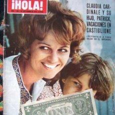 Coleccionismo de Revista Hola: REVISTA HOLA / CLAUDIA CARDINALE, JACQUELINE KENNEDY, PETER SELLERS, PRINCESA SORAYA. Lote 43747147