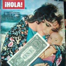 Coleccionismo de Revista Hola: REVISTA HOLA / ELIZABETH TAYLOR, CARROLL BAKER, LUCIA BOSE, MIGUEL, TWIGGY,. Lote 43804646