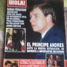 Coleccionismo de Revista Hola: REVISTA HOLA. NUM 2508. 3 DE SEPTIEMBRE DE 1992. EL PRINCIPE ANDRES, ANTE LA NUEVA SITUACION. ..B3R. Lote 43891376
