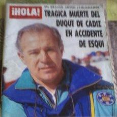 Coleccionismo de Revista Hola: NUM 2321. FEBRERO 1989. TRAGICA MUERTE DEL DUQUE DE CADIZ EN ACCIDENTE DE ESQUI. B3R. Lote 43891656