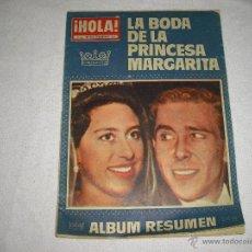 Coleccionismo de Revista Hola: HOLA . LA BODA DE LA PRINCESA MARGARITA. SUPLEMENTO EXTRAORDINARIO. Lote 44286271