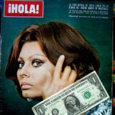 Coleccionismo de Revista Hola: REVISTA HOLA / MISS ESPAÑA, SOPHIA LOREN, BURT REYNOLDS, MIGUEL BOSE, BRIGITTE BARDOT, MARK LESTER. Lote 44420394