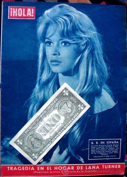 REVISTA HOLA 1958 / BRIGITTE BARDOT (Coleccionismo - Revistas y Periódicos Modernos (a partir de 1.940) - Revista Hola)