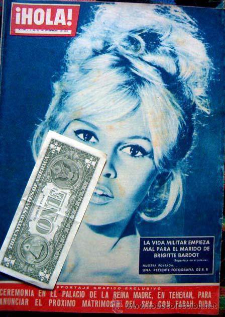 REVISTA HOLA / BRIGITTE BARDOT, FARAH DIBA, MIJANOU BARDOT (Coleccionismo - Revistas y Periódicos Modernos (a partir de 1.940) - Revista Hola)