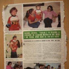 Coleccionismo de Revista Hola: MASSIEL ARTICULO RECORTE REVISTA HOLA 16 JUNIO 1979. Lote 45002628