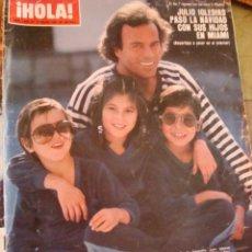 Coleccionismo de Revista Hola: JULIO IGLESIAS- LIZ TAYLOR- MIGUEL BOSE- ISABEL PREYSLER- URSULA ANDRESS. Lote 45067956