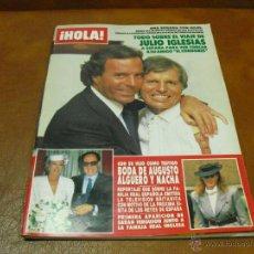 Coleccionismo de Revista Hola: REV. 4/86 HOLA -JULIO & EL CORDOBÉS,ROMINA CON CRISTAL,OLIVIA NEWTON,PEPA FLORES&GADES,CLINT EASWOOD. Lote 45124312